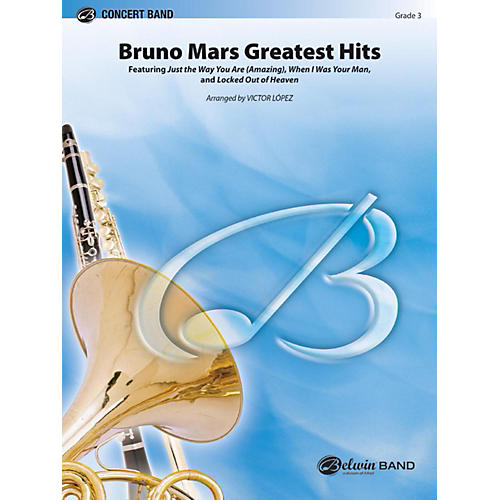 Alfred Bruno Mars Greatest Hits Concert Band Grade 3-thumbnail