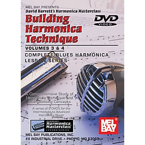 Mel Bay Building Harmonica Technique Volumes 3 and 4 DVD by Mel Bay