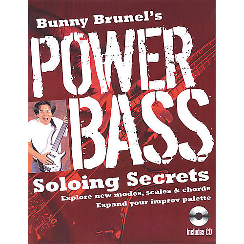 Backbeat Books Bunny Brunel's Power Bass: Soloing Secrets (Book/CD)-thumbnail