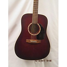 Art & Lutherie Burgandy Dread Acoustic Guitar