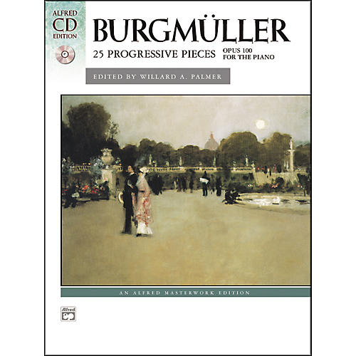 Alfred Burgmuller 25 Progressive Pieces Op. 100 Early Intermediate/Late Intermediate Piano Book & CD-thumbnail