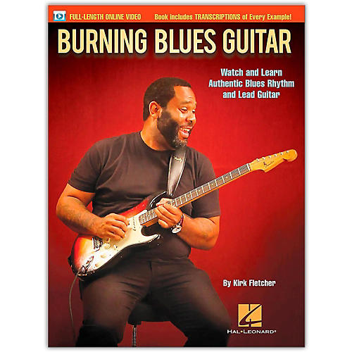 Hal Leonard Burning Blues Guitar - Watch and Learn Authentic Blues Rhythm and Lead Guitar Book/Online Video