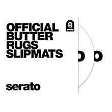 SERATO Butter Rug Thud Rumble 12 in. Black Slipmats (Pair)