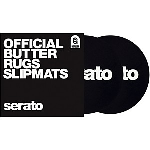 SERATO Butter Rug Thud Rumble 7 in. Black Turntable Slipmats Pair