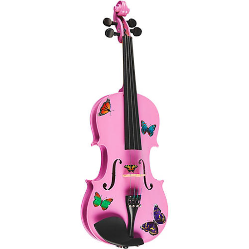 Rozanna's Violins Butterfly Dream Lavender Series Violin Outfit 1/2 Size
