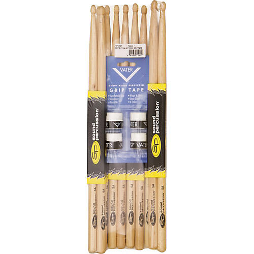 Sound Percussion Labs Buy 6 Pairs of Sound Percussion Sticks Get Free Vater Grip Tape 5A