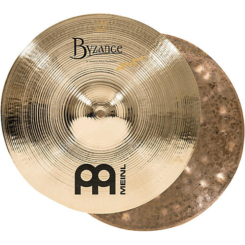 Meinl Byzance Brilliant Serpents Hi-Hat Cymbals 14 in.
