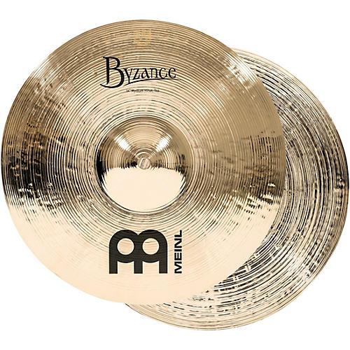 Meinl Byzance Medium Hi-Hat Brilliant Cymbals-thumbnail