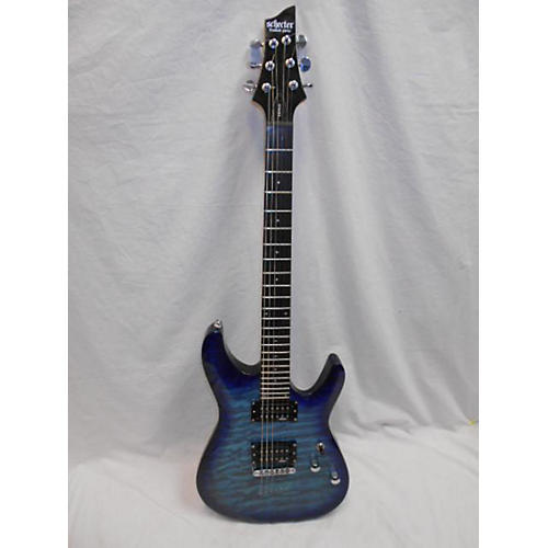used schecter guitar research c 6 plus solid body electric guitar ocean blue burst guitar center. Black Bedroom Furniture Sets. Home Design Ideas