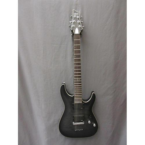 Schecter Guitar Research C1 Platinum Black Quilt Top Solid Body Electric Guitar