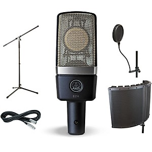 AKG C214 VS1 Stand Pop Filter and Cable Kit by AKG