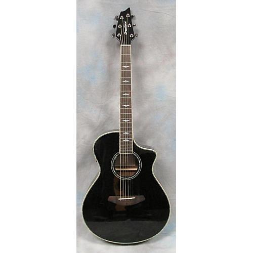 Breedlove C25/SME Black Magic Black Acoustic Electric Guitar-thumbnail