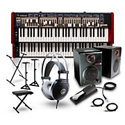 Nord C2D Combo Organ with RPM3 Monitors, Headphones, Bench, Stand, and Sustain Pedal