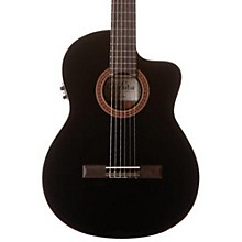 C5-CET Classical Thinline Acoustic-Electric Guitar Black