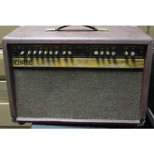 used crate ca60 60w acoustic guitar combo amp guitar center. Black Bedroom Furniture Sets. Home Design Ideas