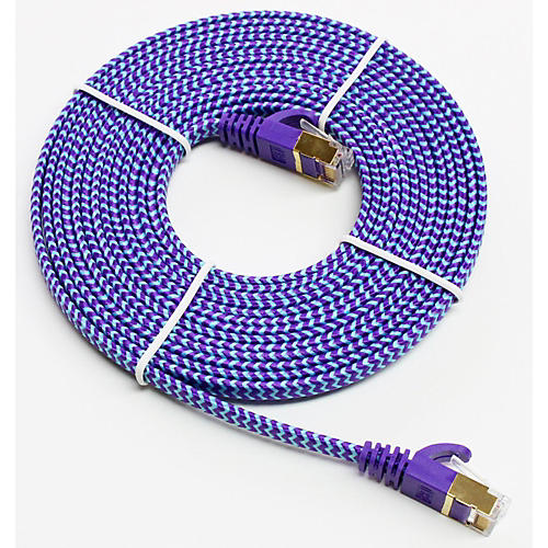 Tera Grand CAT-7 10 Gigabit Ultra Flat Ethernet Patch Braided Cable-thumbnail