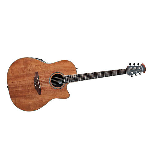 Ovation CC24-FKOA Celebrity Mid-Depth Acoustic-Electric Guitar Figured Koa
