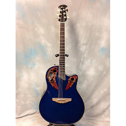 Ovation CC48 Blue Acoustic Electric Guitar