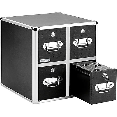 Vaultz CD Cabinet - 4 Drawer Black