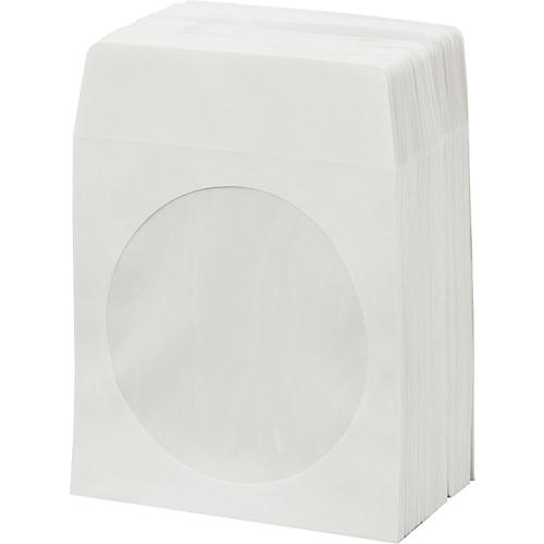 BK Media CD & DVD Paper Sleeves with Window 100-Pack