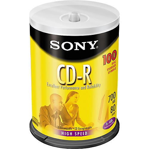 Sony CD-R 48X 700MB/80 Min. 100-disc Spindle
