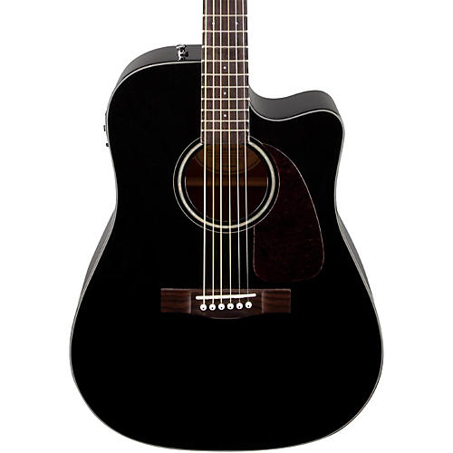 Fender CD140SCE Acoustic Electric Guitar Black