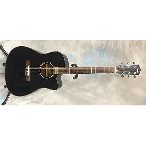 Fender CD140SCE Black Acoustic Electric Guitar