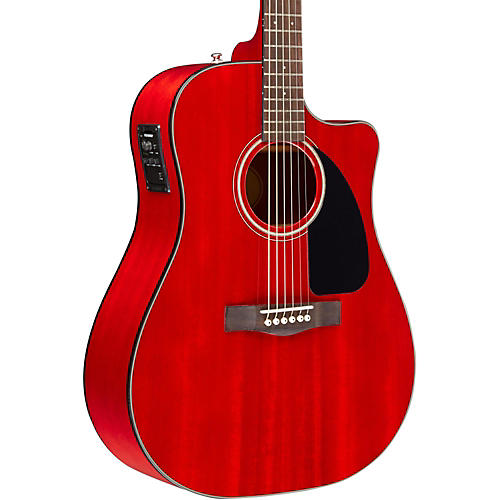 Fender CD140SCE Mahogany Acoustic Guitar Cherry Red