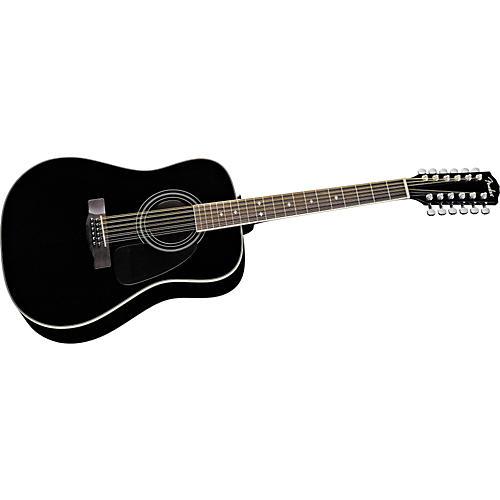 fender cd160se 12 12 string dreadnought acoustic electric guitar black guitar center. Black Bedroom Furniture Sets. Home Design Ideas