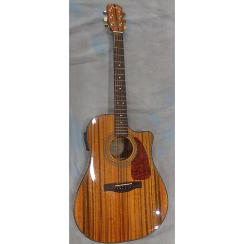 used fender cd220ce acoustic guitar natural guitar center. Black Bedroom Furniture Sets. Home Design Ideas