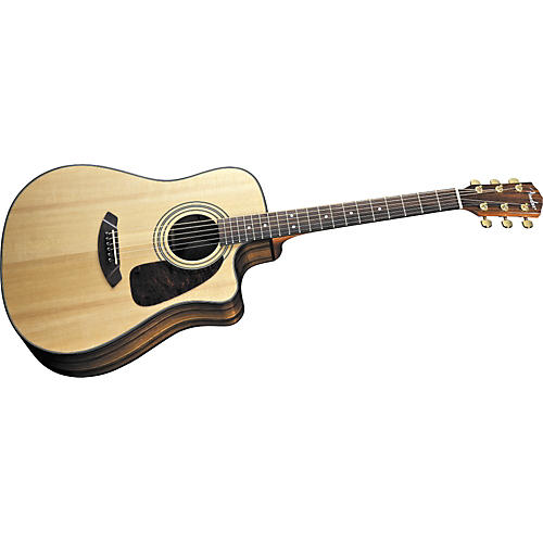 Fender CD220SCE Dreadnought Asian Ebony Striped Acoustic-Electric Guitar