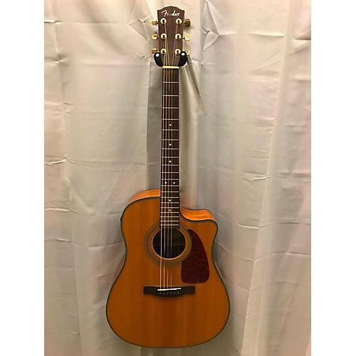Fender CD220SCE Exotic Ash Burl Acoustic Electric Guitar