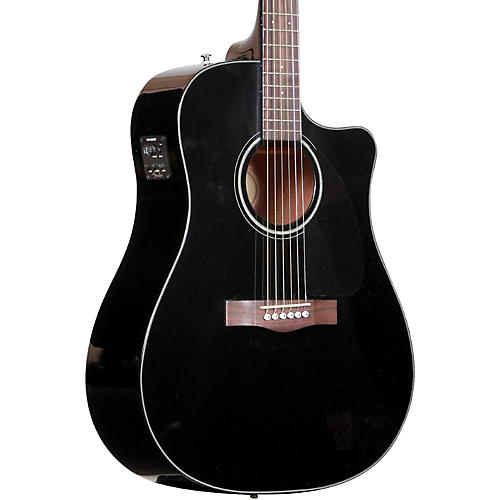 Fender CD60CE Cutaway Dreadnought Acoustic-Electric Guitar Black