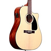 Fender CD60CE Cutaway Dreadnought Acoustic-Electric Guitar