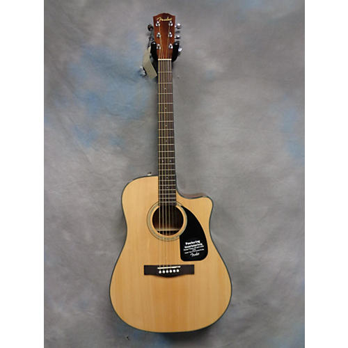 Fender CD60CE Dreadnought Natural Acoustic Electric Guitar-thumbnail