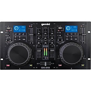 Gemini CDM-4000 Dual MP3/CD/USB Player and 2 Channel Mixer by Gemini