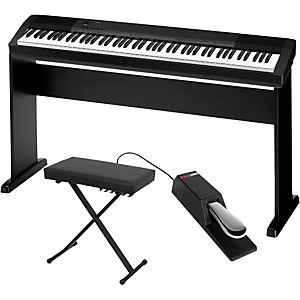 Casio CDP-130 Digital Piano with CS44 Wood Stand Sustain Pedal and Deluxe K... by Casio