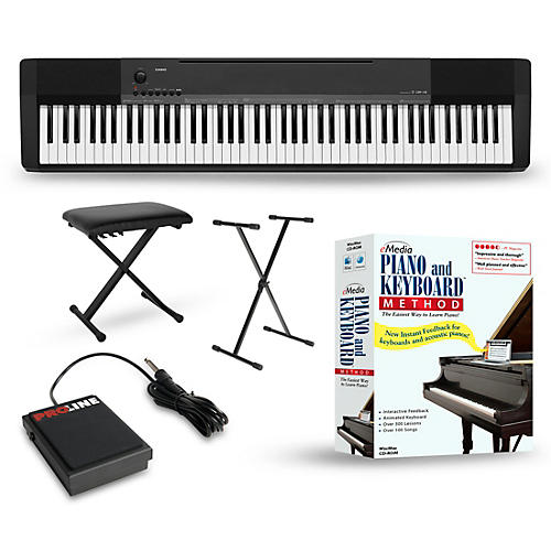 casio cdp 135 digital piano package beginner package guitar center. Black Bedroom Furniture Sets. Home Design Ideas