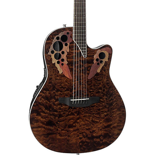 ovation ce48p celebrity elite plus acoustic electric guitar transparent tiger eye guitar center. Black Bedroom Furniture Sets. Home Design Ideas