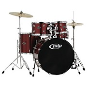 CENTERstage 5-piece Drum Set with Hardware and Cymbals Ruby