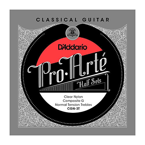 D'Addario CGN-3T Pro-Arte Normal Tension G Classical Guitar Strings Half Set