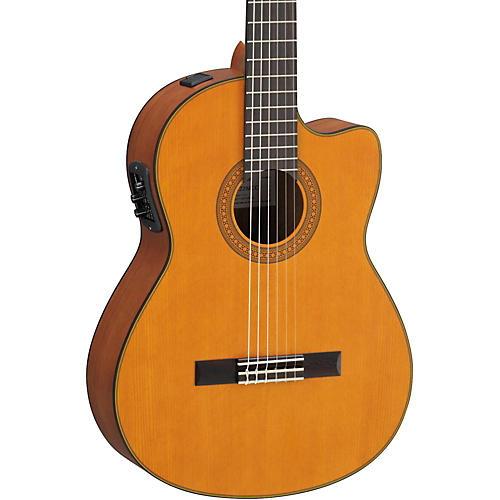Yamaha CGX122MCC Solid Cedar Top Acoustic-Electric Classical Guitar-thumbnail