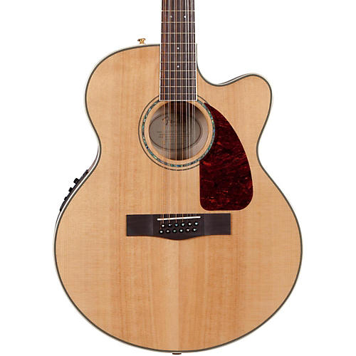 Fender CJ290SCE-12 Flame Maple Jumbo 12-String Acoustic-Electric Guitar-thumbnail