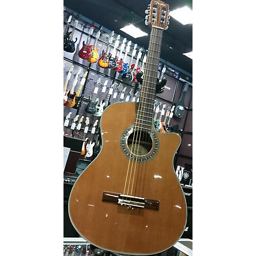 Fender CN-240SCE Thinline Classical Acoustic Electric Guitar-thumbnail
