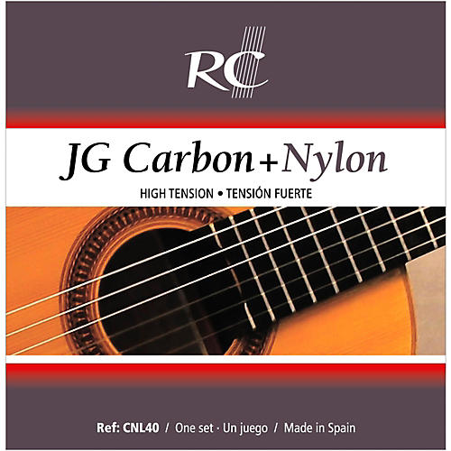 RC Strings CNL40 JG Carbon + Nylon High Tension Nylon Guitar Strings with Carbon 2nd  & 3rd.
