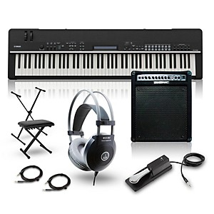 Yamaha CP4 Stage 88 Key Stage Piano with Keyboard Amplifier, Stand, Headpho...