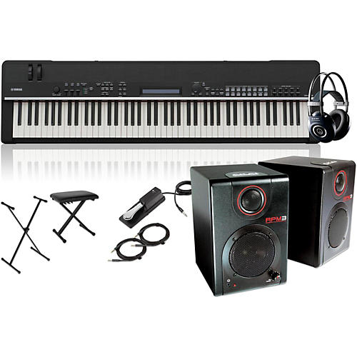 Yamaha CP4 Stage 88-Key Stage Piano with RPM3 Monitors, Stand, Headphones, Bench, and Sustain Pedal-thumbnail