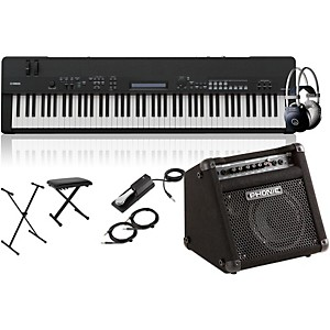 Yamaha CP40 Stage 88 Key Stage Piano with Keyboard Amplifier, Stand, Headph...