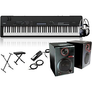 Yamaha CP40 Stage 88 Key Stage Piano with RPM3 Monitors, Stand, Headphones,...