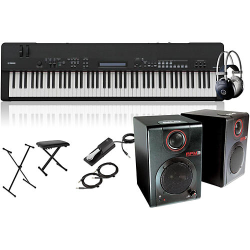 Yamaha CP40 Stage 88-Key Stage Piano with RPM3 Monitors, Stand, Headphones, Bench and Sustain Pedal-thumbnail